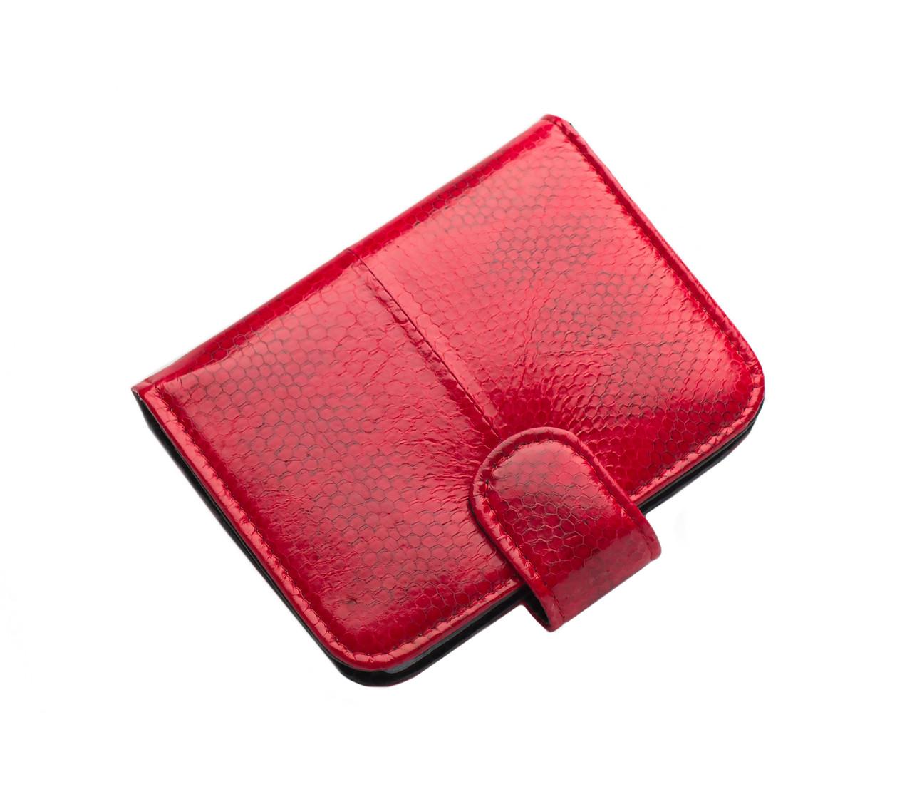Визитница из кожи морской змеи  Ekzotic Leather Красная (snh01)