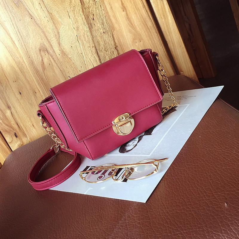 Женская сумочка маленькая красная через плечо