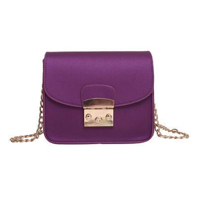 Женская маленькая сумочка на цепочке фиолетовая