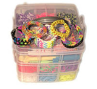 Набор для творчества Куб на 4500резиночек (в стиле Rainbow Loom), фото 1