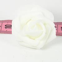 Розы головки латексные 4.5 см белая