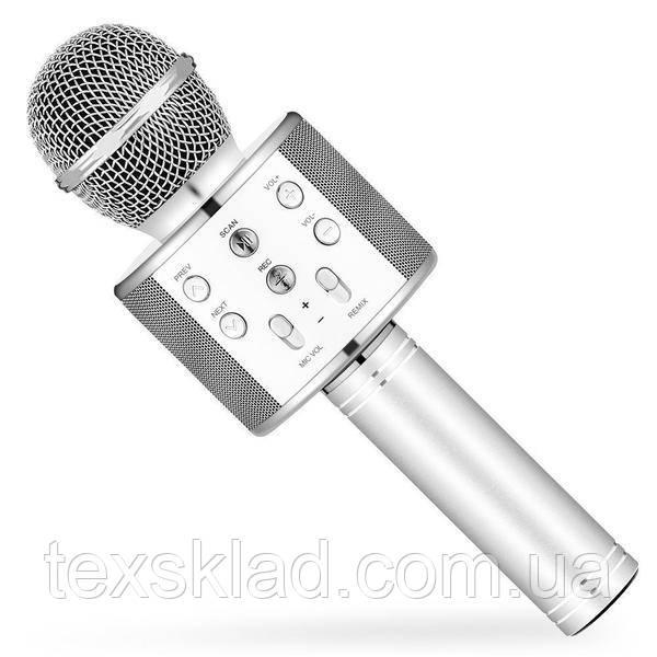 Микрофон для караоке KTV WS-858 Silver (USB/Bluetooth)