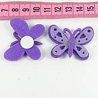 Декор фетр бабочка 2