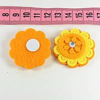 Декор фетр цветок