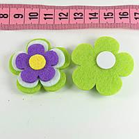 Декор фетр цветок 2