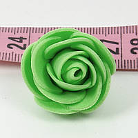 Розы головки латексные 3 см зеленая