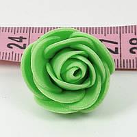 Троянди головки латексні 3 см зелена