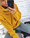 Теплый женский свитер свободный с горловиной 3sv458, фото 6