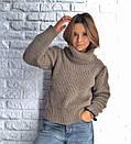 Теплый женский свитер свободный с горловиной 3sv458, фото 9