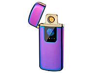 Зажигалка USB Touch ID электроимпульсная  Фиолетовый