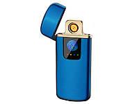 Зажигалка USB Touch ID электроимпульсная  Синий, фото 1