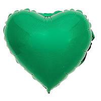 """Фольгированный шар сердце зеленый 18"""" 201500VE Flexmetal"""