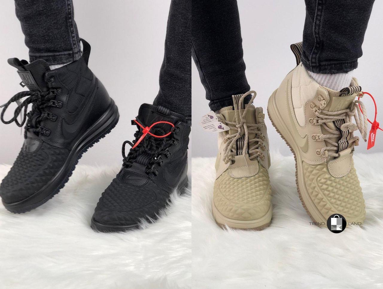 8bb52215 Женские термо кроссовки/ботинки в стиле Nike Lunar Force 1 Duckboot 2 цвета  в наличии