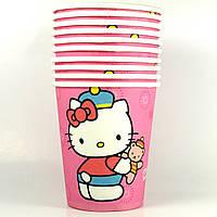 Стаканчики бумажные Hello Kitty 10шт.