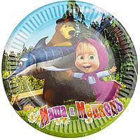 Тарілки паперові Маша і Ведмідь 10шт.