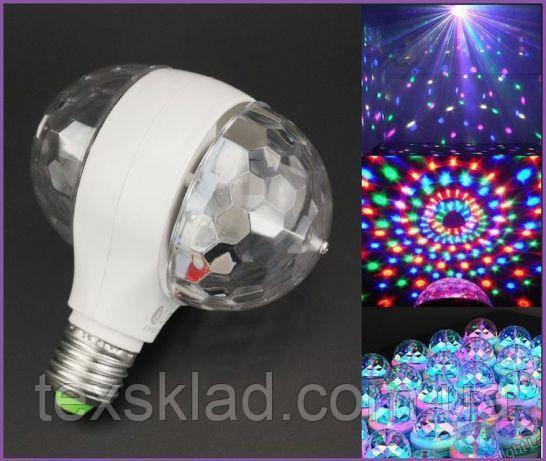 Світлодіодна диско установка LED Double (живлення 220V/цоколь Е27)
