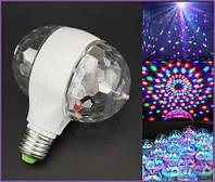 Світлодіодна диско установка LED Double (живлення 220V/цоколь Е27), фото 1