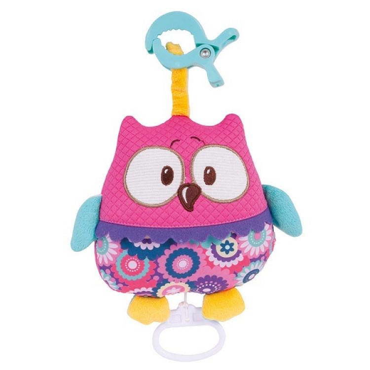 Іграшка плюшева музична Forest Friends рожева сова