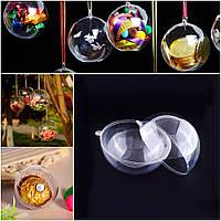 Прозрачный подвесной шар d=5см, разъёмный из акрила (пластик) Цена за 1шт