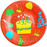 Тарілки паперові З тортиком 10шт.
