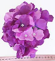 Головка гортензии премиум фиолетовая 2621-3