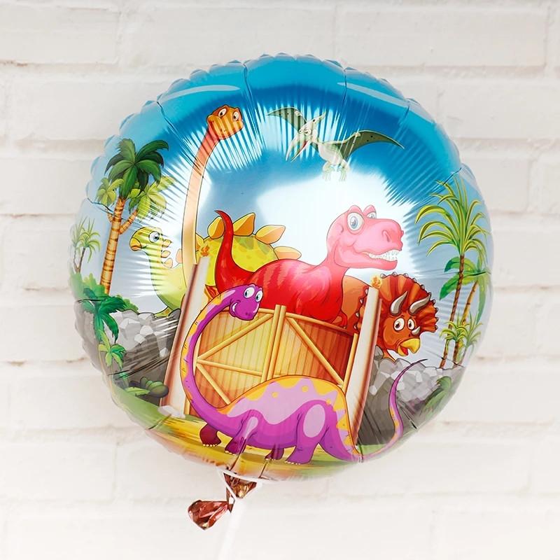 Фольгированные воздушные шары динозавры диаметр 45 см