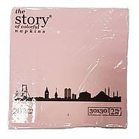 Салфетки бумажные 20шт. бледно-розовые