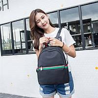 Рюкзак девушка Нейлоновая ткань черный сделанный в Китай спортивный городской стильный только опт, фото 1