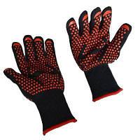 Экстремальные жаропрочные перчатки для приготовления барбекю - черный и красный