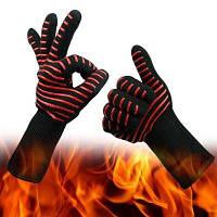 Жаропрочные перчатки - красный и черный