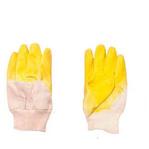 Перчатка стекольщика тканевая латекс на ладони INTERTOOL SP-0002W