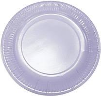 Тарелки бумажные сиреневые 10шт.