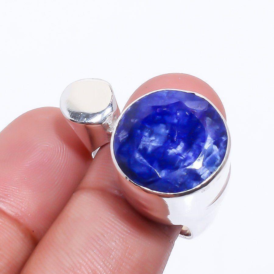 Кольцо сапфир в серебре. Кольцо с сапфиром 18,2 размер Индия!