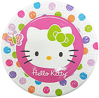 Тарелки бумажные Hello Kitty-2 10шт.