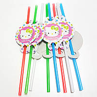 Трубочки Hello Kitty-2 8шт