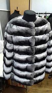 Шуба из натурального меха шиншиллы автоледи длинный рукав