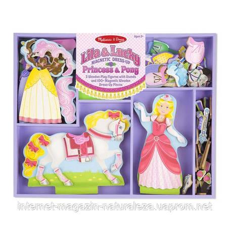 Магнітна одевалка Melіssa&Doug Принцеса і конячка, фото 2