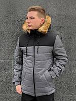 Мужская зимняя куртка Jacket winter Alaska (black/gray), фото 1