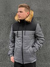 Мужская зимняя куртка Jacket winter Alaska (black/gray)