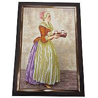 Картина без скла: Шоколадниця вишита бісером