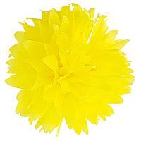 Помпон желтый 35 см свадебный