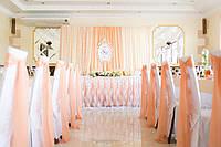 Персиковые банты или шлейфы на стулья