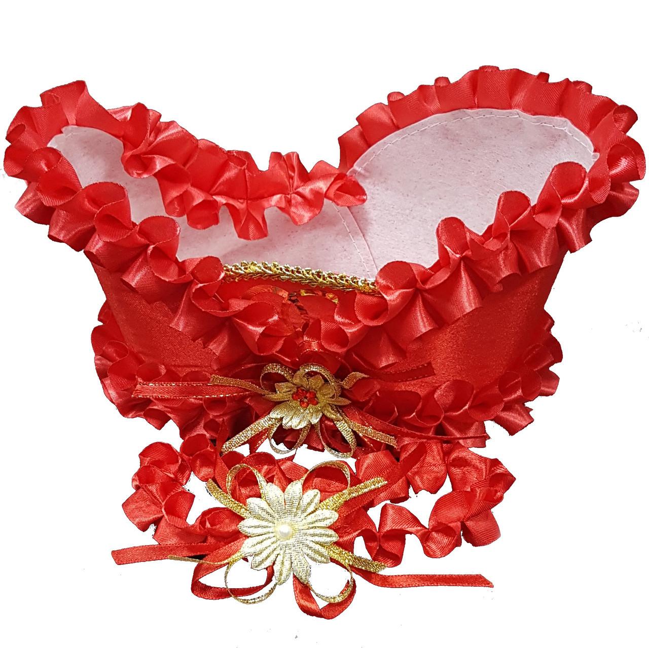 Корзинка свадебная красная