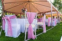Розовые банты или шлейфы на стулья , фото 1