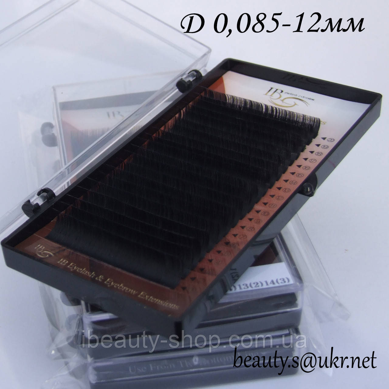 Ресницы  I-Beauty на ленте D-0,085 12мм