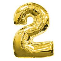 Фольга цифра 2 золото
