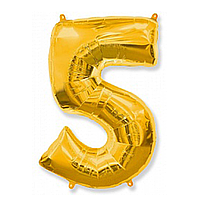 Фольга цифра 5 золото