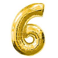 Фольга цифра 6 золото