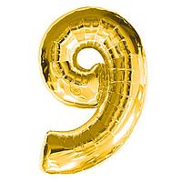 Фольга цифра 9 золото