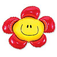 Фольга велика ромашка червона 901548
